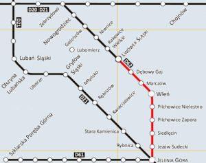 Kolej Doliny Bobru - mapa