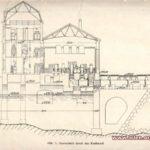 Plan budowy zapory w Pilchowicach. Zdjęcie z książki: `Die Talsperre Bei Mauer Am Bober