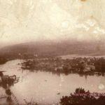 Miasto Wleń. Podczas powodzi w lipcu 1897 roku. Zdjęcie z książki: `Die Talsperre Bei Mauer Am Bober`