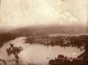 Miasto Wleń. Podczas powodzi w lipcu 1897 roku. Zdjęcie ze zbiorów Fotopolska.eu, Dariush zbiory prywatne